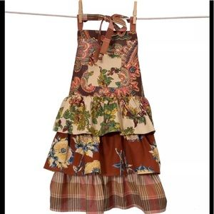 "APRIL CORNELL childs' ""Harvest Patchwork"" apron"
